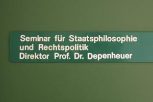 Seminar für Staatsphilosophie Schild